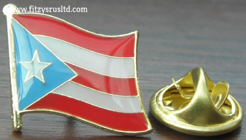 PUERTO RICO Country Flag Lapel Hat Cap Tie Pin Badge prt riko - Brand New